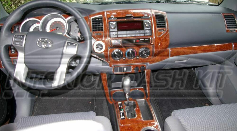 Toyota Tacoma Access Cab Sr5 Interior Wood Dash Trim Kit Set 2012 2013 2014 2015 Ebay