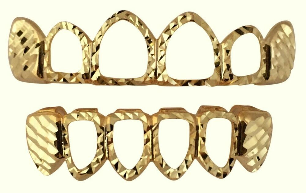 1000 Images About Gold Teeth On Pinterest: 14K Gold Plated Teeth Mouth Grillz Set W/ Mold Kit Diamond