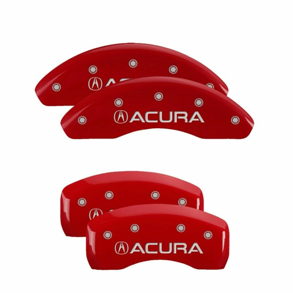 Brake MGP Caliper Dust Covers Front Rear Red Paint Wheels
