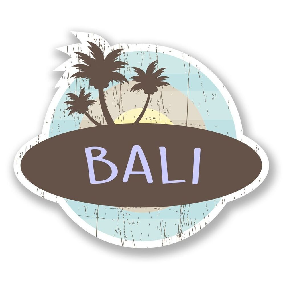 Details about 2 x bali indonesia vinyl sticker laptop travel luggage car 6764
