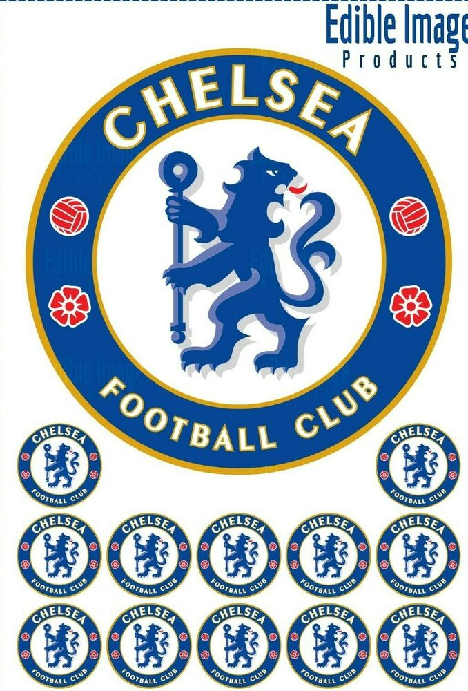 Chelsea Football Club 19cm Edible Wafer Cake Topper With