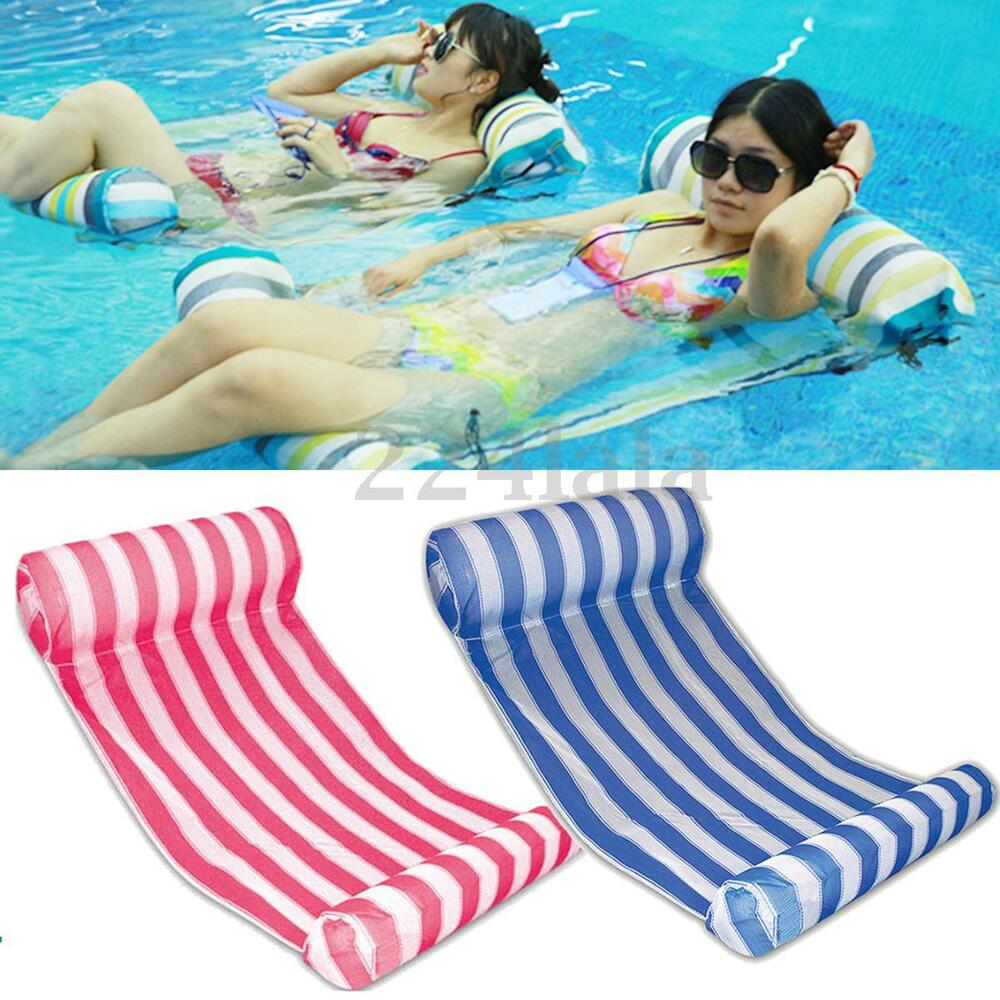 Swimming Pool Inflatable Floating Water Hammock Lounge