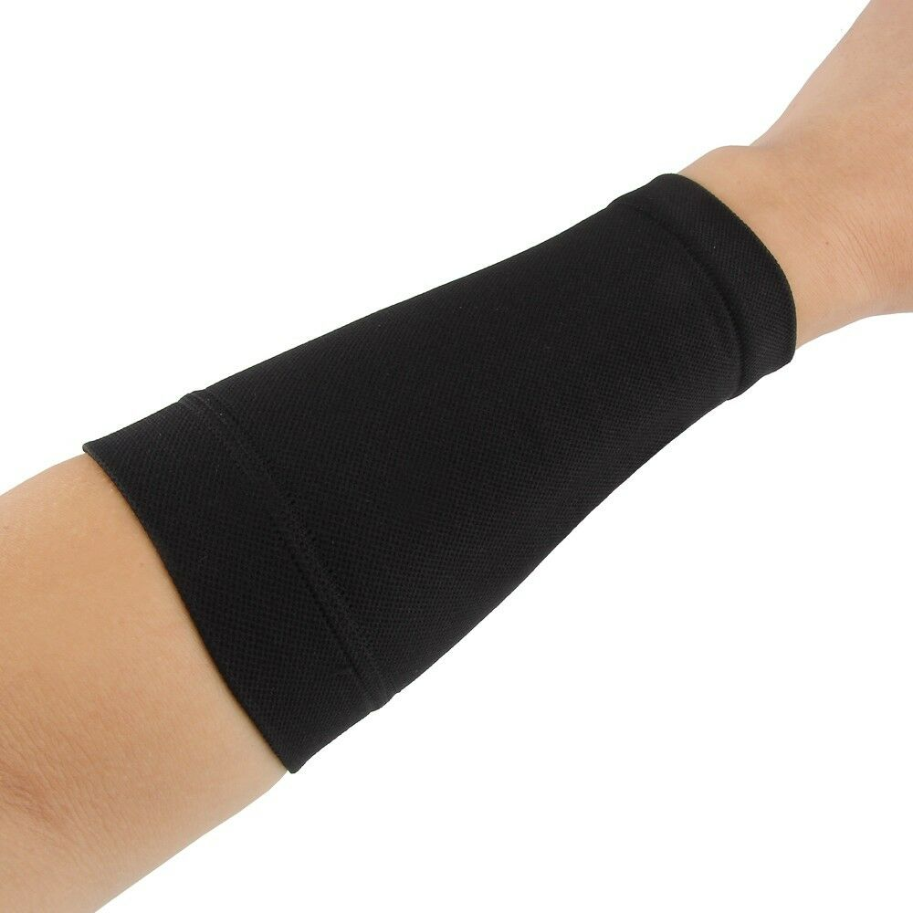 Black skin tattoo cover up compression sleeve forearm band for Tattoo sleeve cover up forearm
