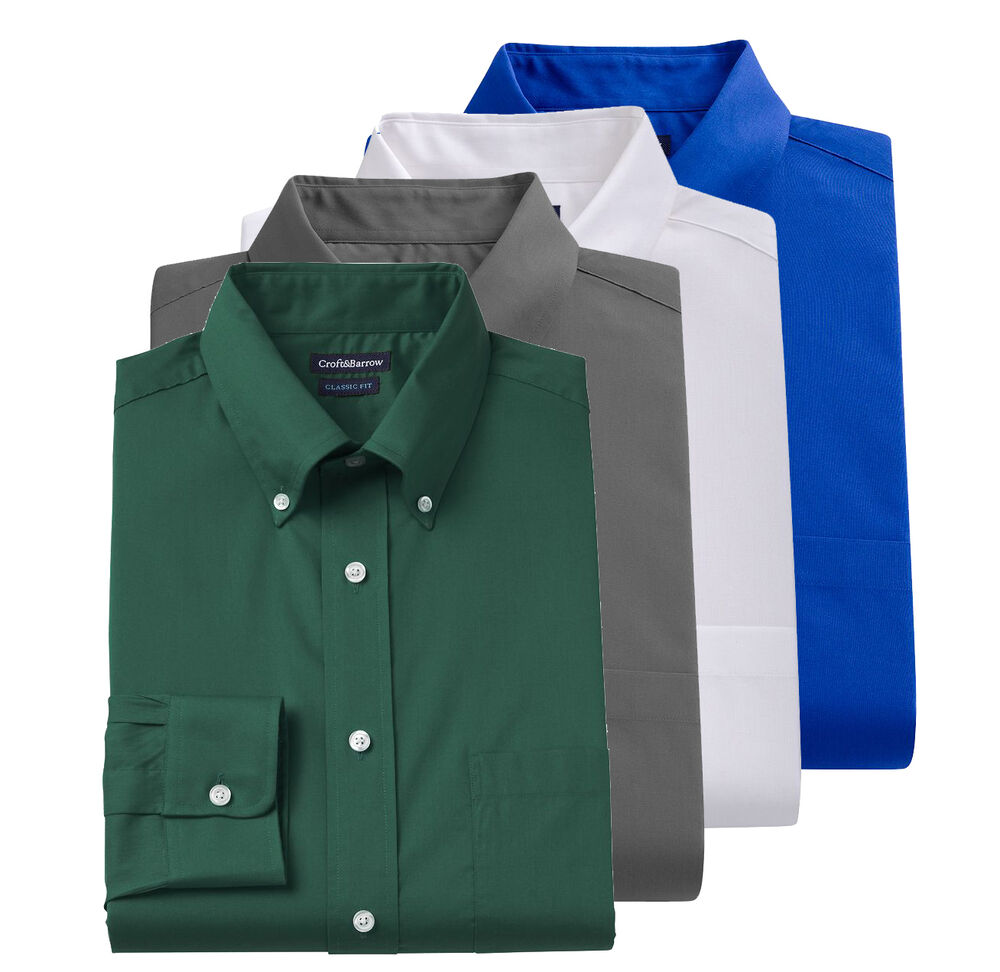 New Croft Barrow Men 39 S Classic Fit Button Down Collar