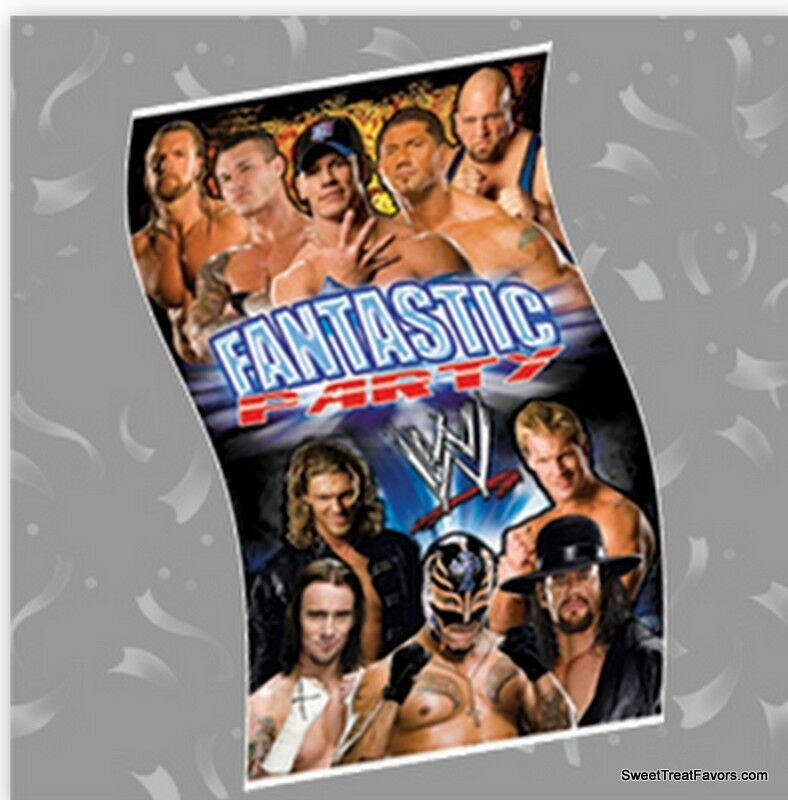 WRESTLING WWF Party Supplies BANNER Birthday Poster