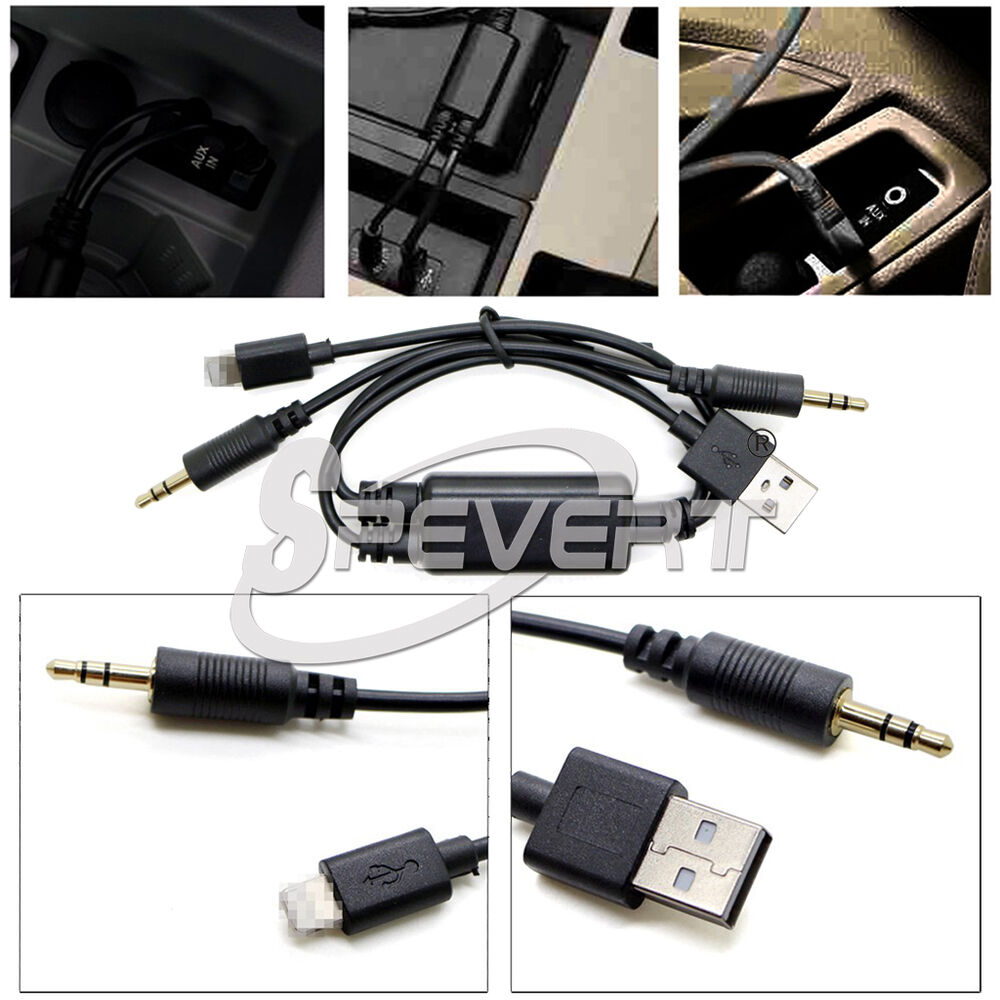 Bmw Y Cable: Audio Stereo USB AUX Adapter Interface Y Cable F BMW