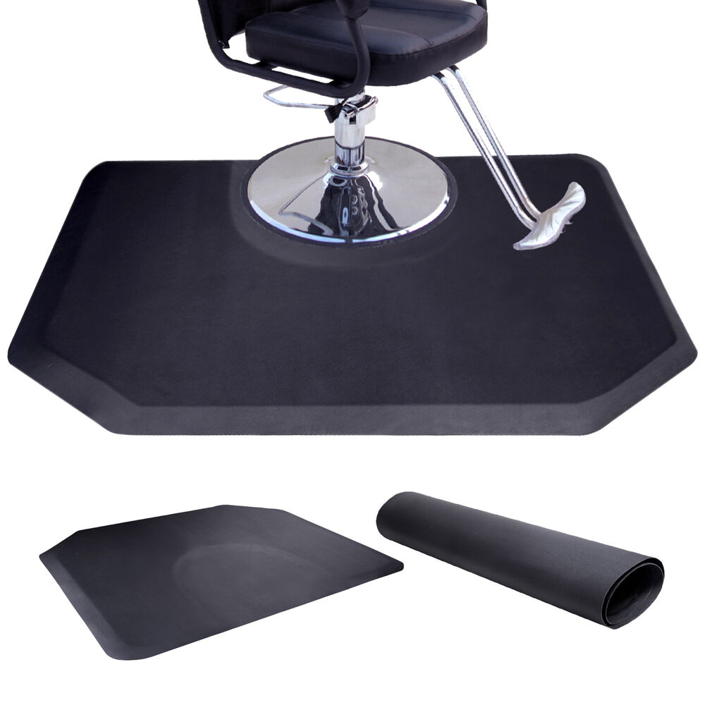 Anti Fatigue Black Hair Stylist Mat Beauty Salon Equipment
