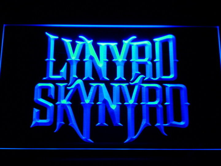 Man Cave Signs That Light Up : Lynyrd skynyrd led neon light sign man cave c b ebay