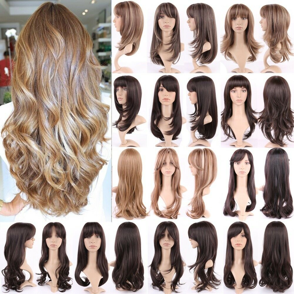 30 Style Women Long Hair Wig Straight Curly Wavy Natural