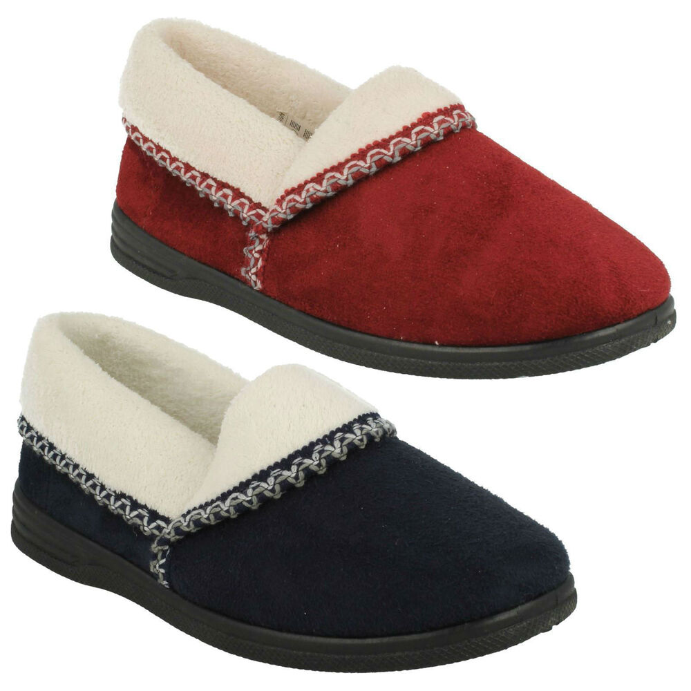 592e89eea2f4 Details about SANDPIPER ILA LADIES SLIP ON CASUAL TEXTILE WARM INDOOR HOUSE  SLIPPERS SHOES