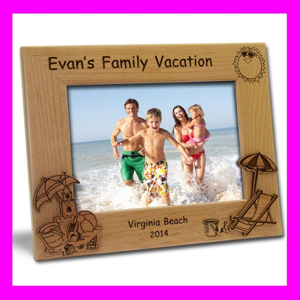 4x6 Personalized Custom Engraved Beach Vacation Picture