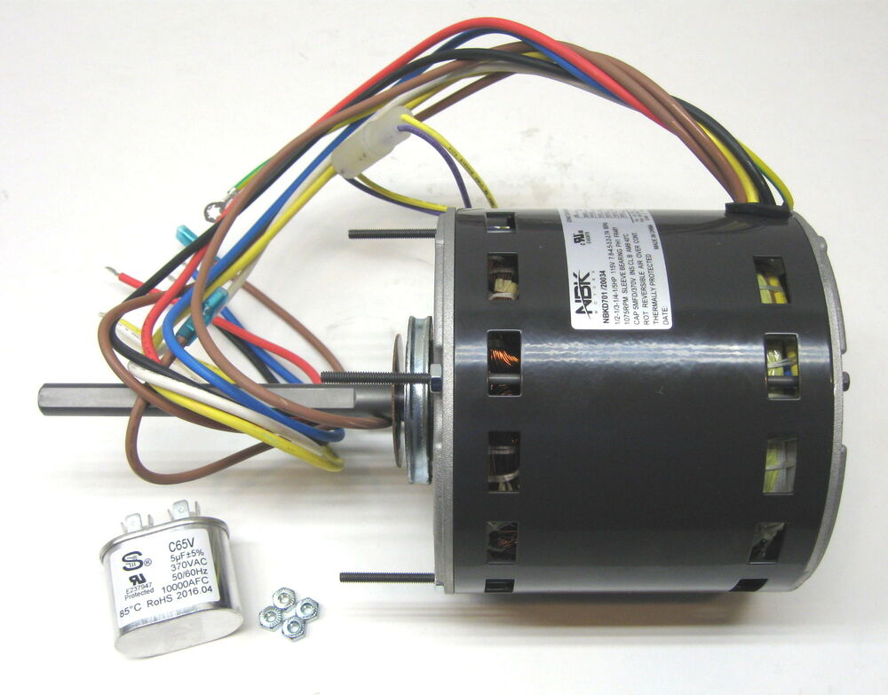 Furnace air handler blower motor hp 1075 rpm 115 volts 4 for 2 hp blower motor
