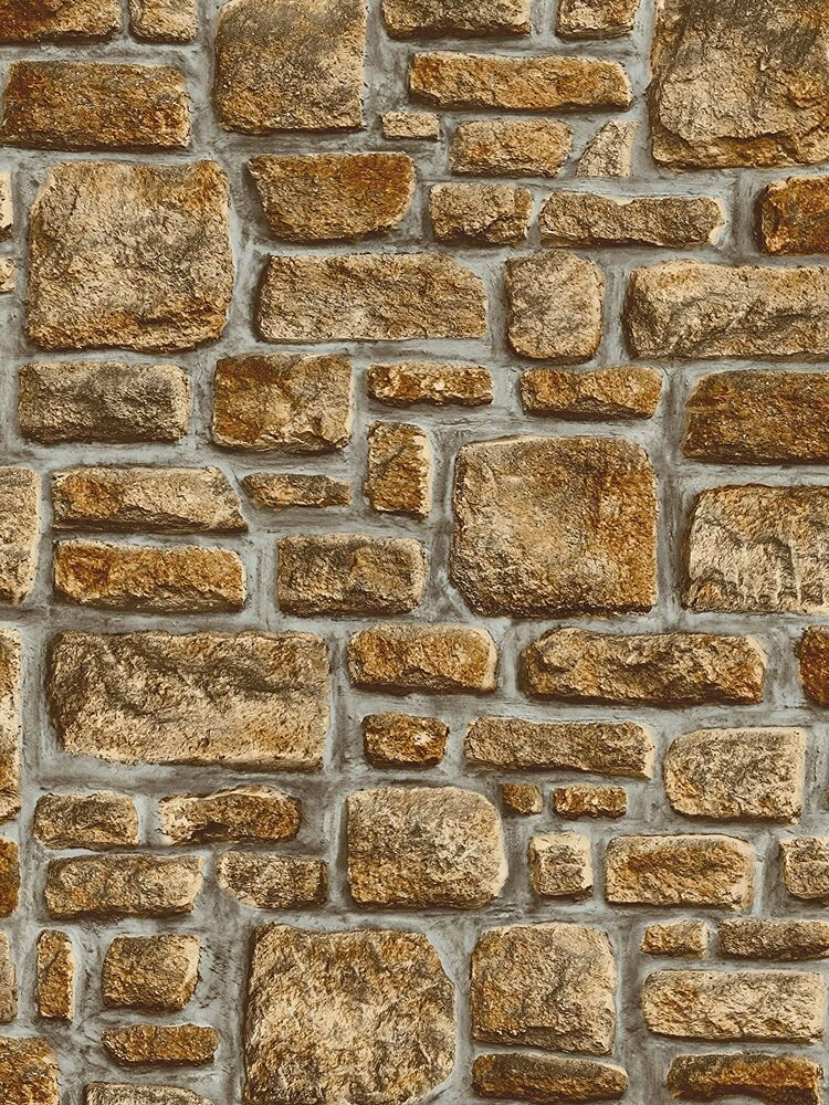 Old Stone Brick Wall Sticky Back Plastic Self Adhesive