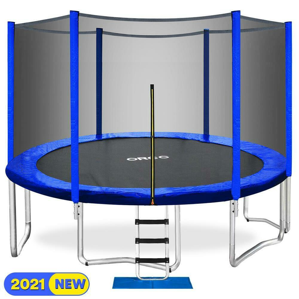 New 14ft Trampoline Combo Bounce Jump Safety Enclosure Net: ORCC 15FT Trampoline With Enclosure Net Pad Ladder Lawn