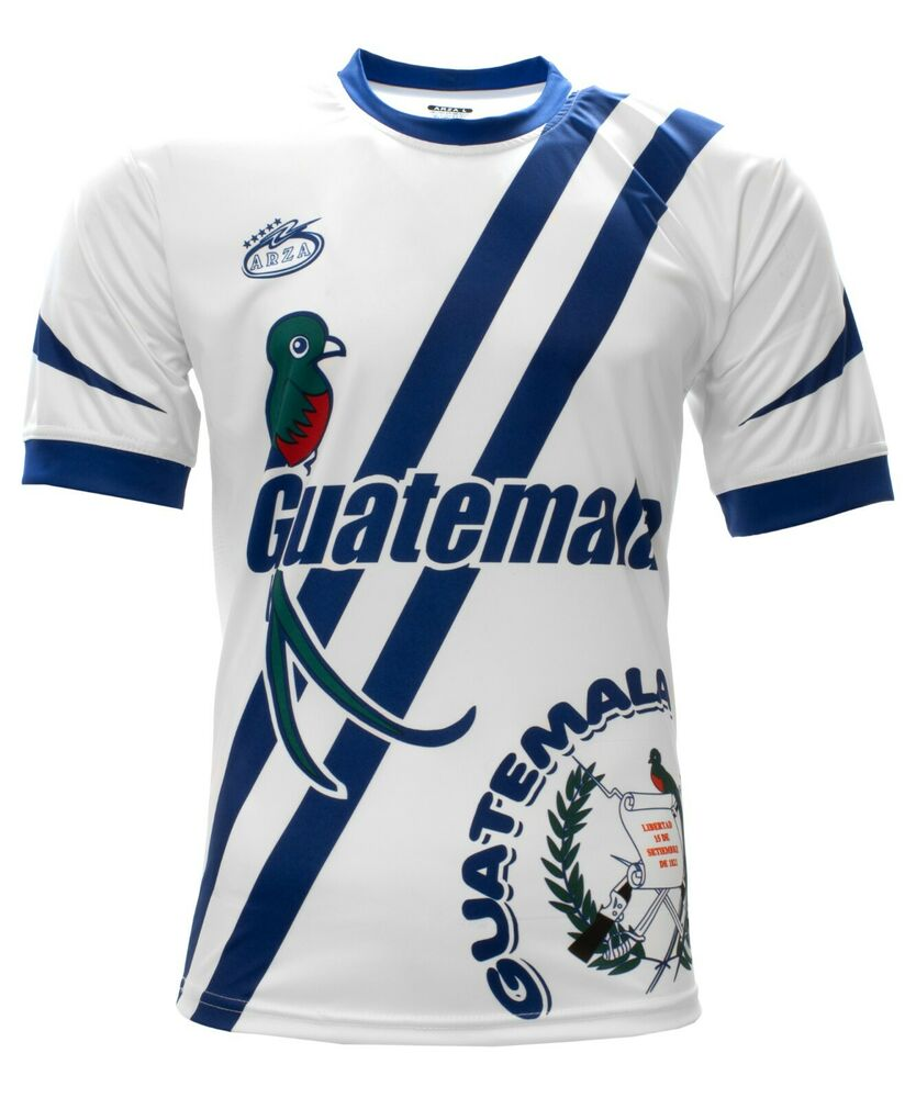 Guatemala New Arza Soccer Jersey White 100% Polyester  cd805ef82
