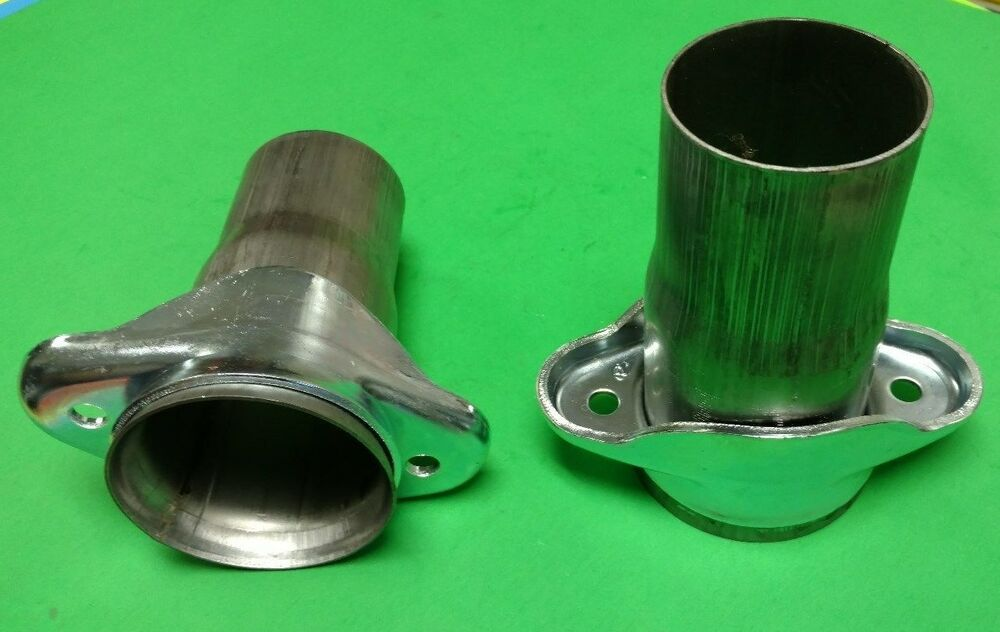Quot header to stainless exhaust pipe ball socket