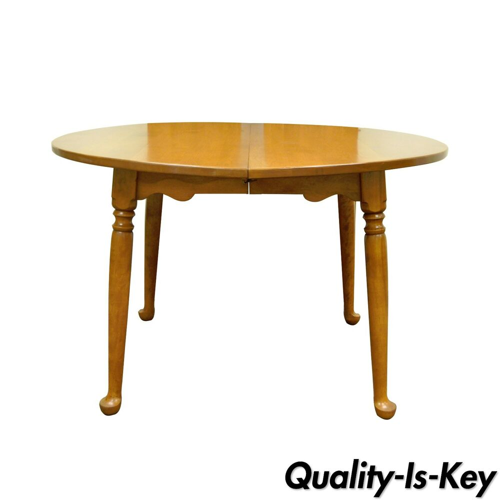 ethan allen baumritter heirloom 48 round maple birch dining room