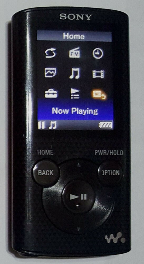 sony nwze384 8gb walkman mp3 video player black stuck buttons read details 27242867697 ebay. Black Bedroom Furniture Sets. Home Design Ideas