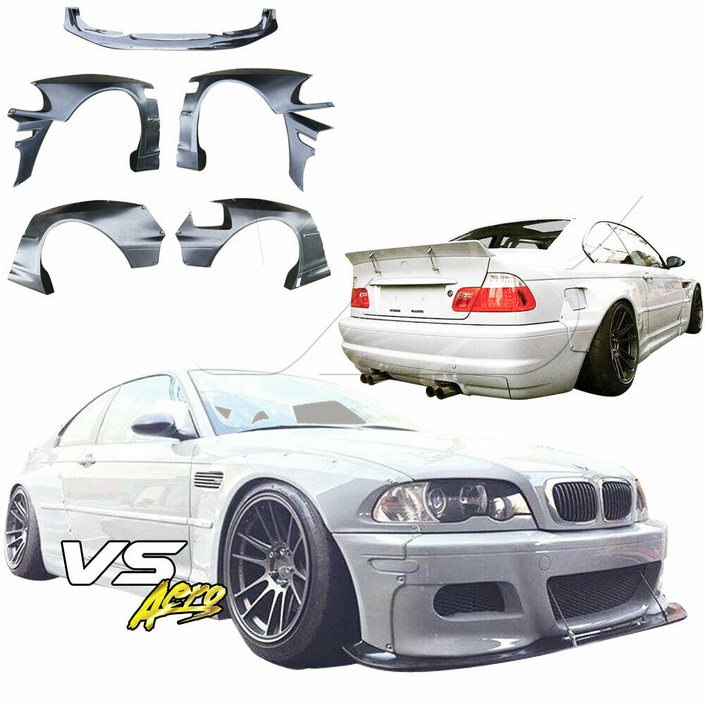 tkyo bunny wide body kit 7pc e46 2dr for bmw 3 series 99. Black Bedroom Furniture Sets. Home Design Ideas