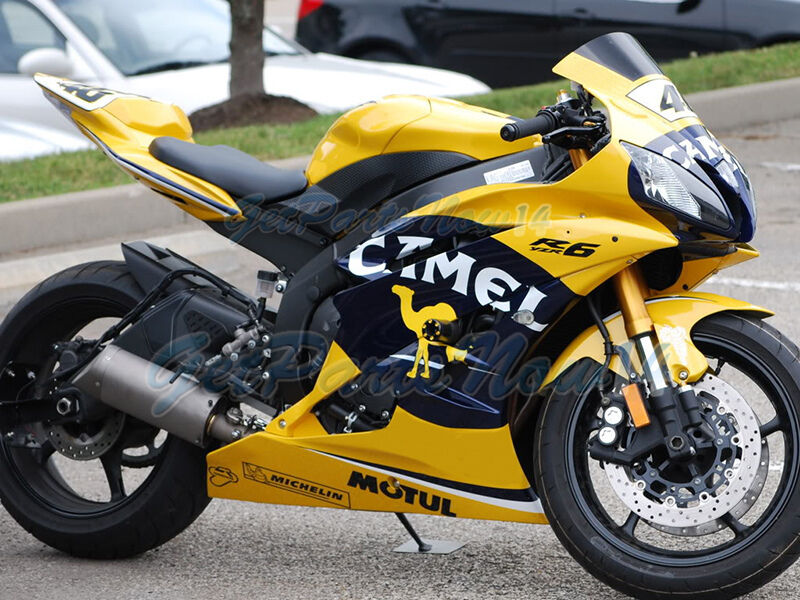 Fit for 2006 2007 yamaha yzf r6 yellow injection plastic for 2006 yamaha r6 for sale