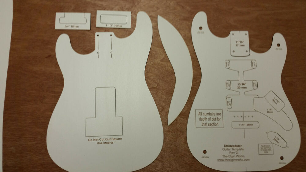 strat neck template - stratocaster guitar body and neck template laser cut ebay