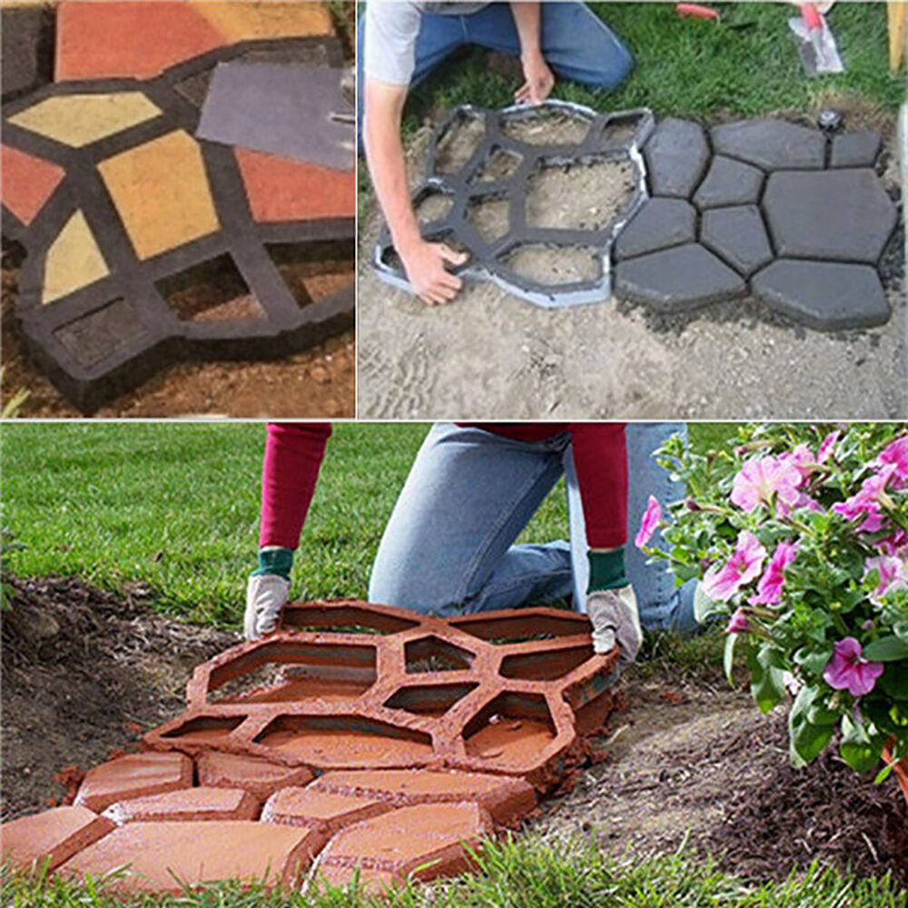 Garden Cement Molds: Random Pathmate Stone Mold Paving Concrete Stepping Stone