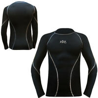 Mens Compression Shirt Full Sleeves Winter Top Base Layer Cold Weather Running