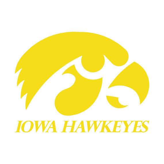 iowa hawkeyes bean bag toss decals large 18 quot set
