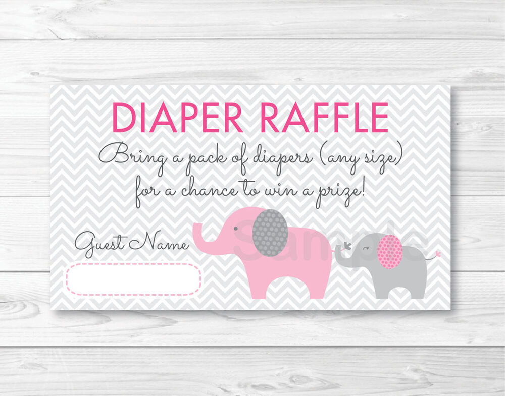 Bright image inside free printable diaper raffle tickets