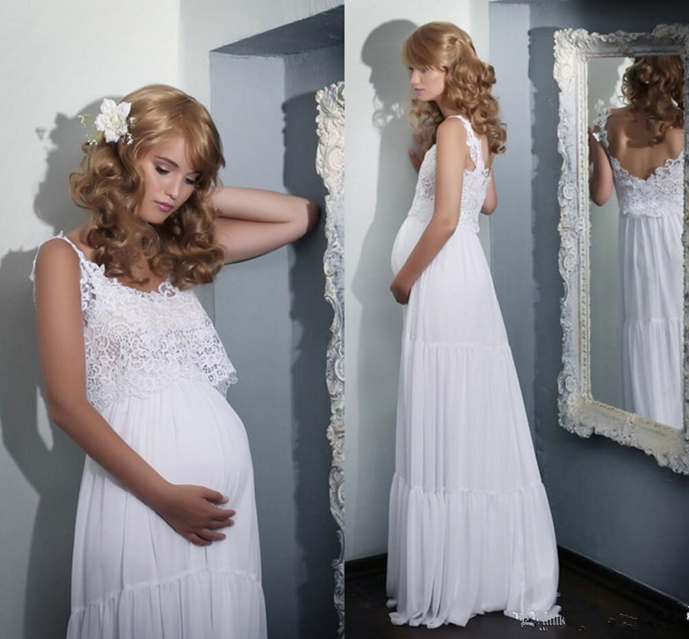 Pregnant Wedding Dresses: 2016 Boho Lace Maternity Wedding Dresses Lace Pregnant