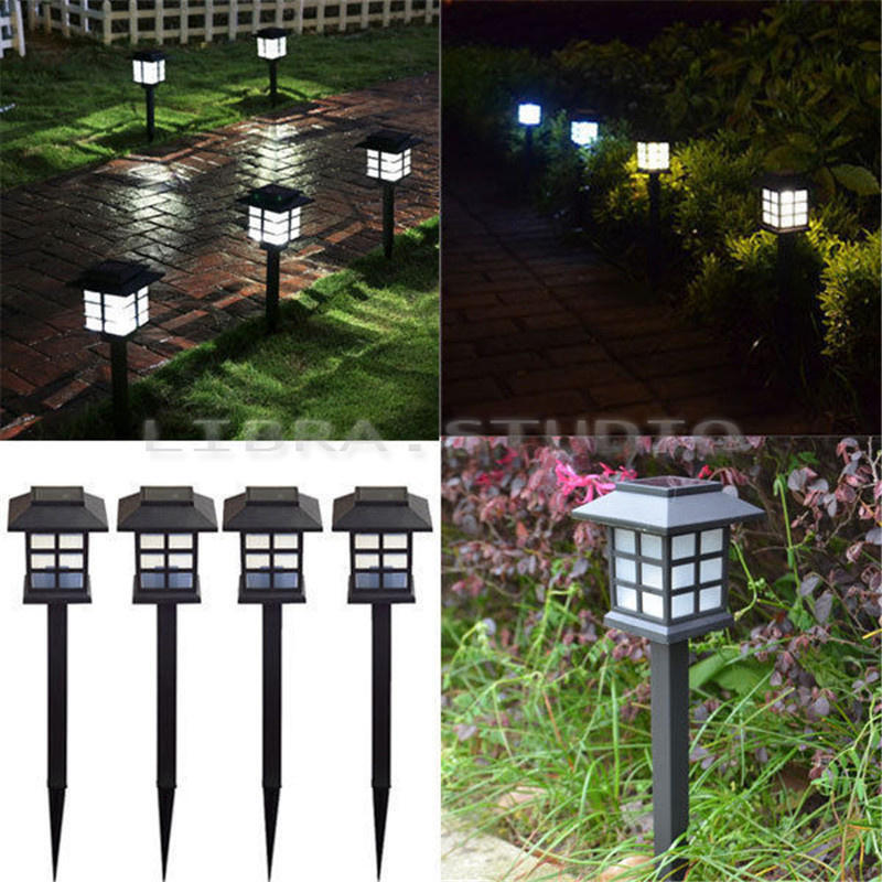 Solar Power Wall Mount LED Light Outdoor Garden Path Landscape Fence Yard Lamp U eBay