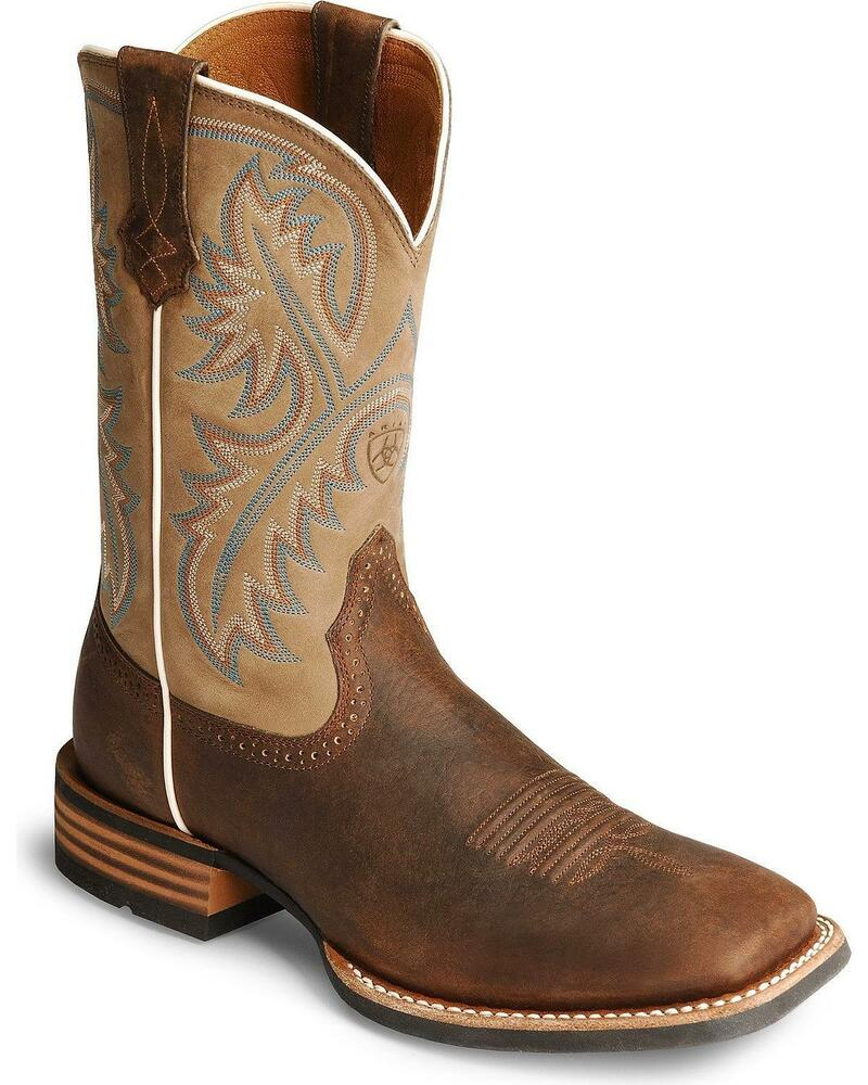 ariat s quickdraw 11 quot western boot square toe