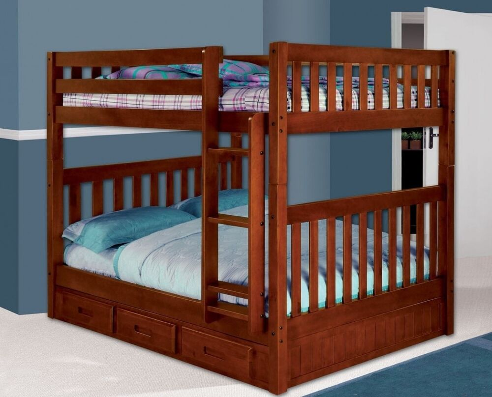Bunk Beds Full Over Full With Storage Ebay