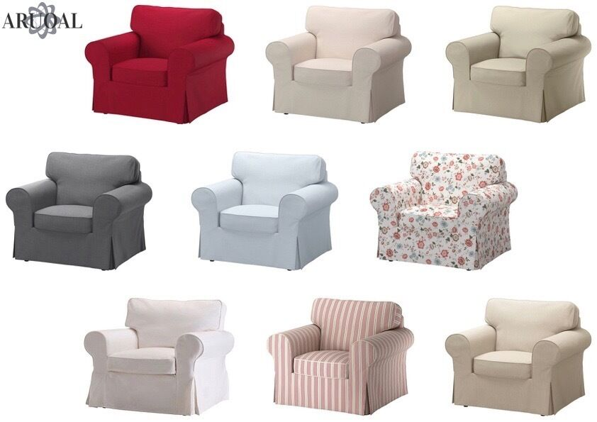 Ikea ektorp cover single seat sofa in various colours - Copridivano ikea ektorp ...