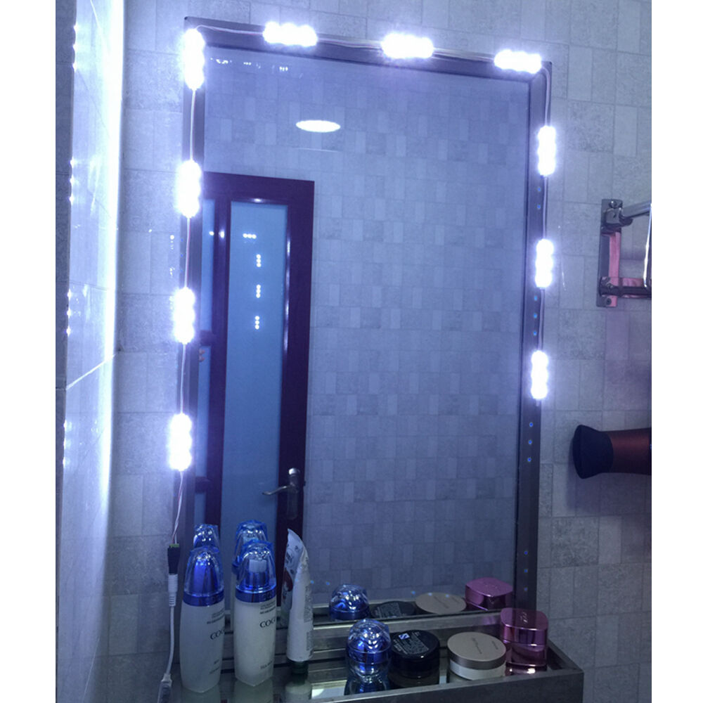Mirror LED Light with remote For Cosmetic Makeup Vanity Lighted White KIT 5ft eBay