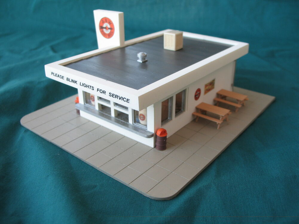 famous root beer stand ho 900 dlx with interior ho scale by randy brown ebay. Black Bedroom Furniture Sets. Home Design Ideas