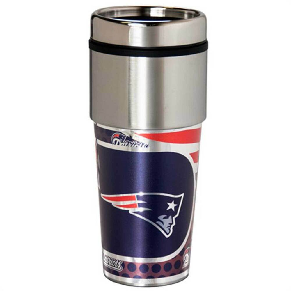 new england patriots travel tumbler 16 oz stainless steel. Black Bedroom Furniture Sets. Home Design Ideas