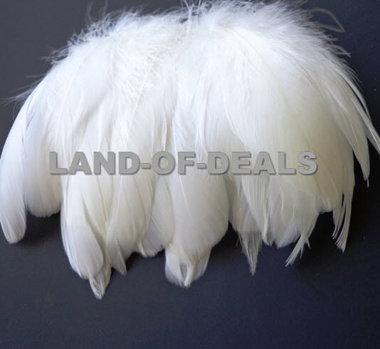 White off white goose nagoire feathers millinery craft for Where can i buy feathers for crafts