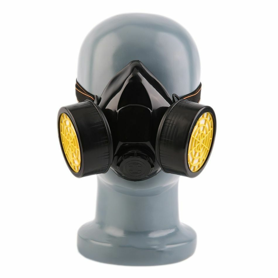 emergency survival safety respiratory gas mask with 2 dual protection filter ds ebay. Black Bedroom Furniture Sets. Home Design Ideas