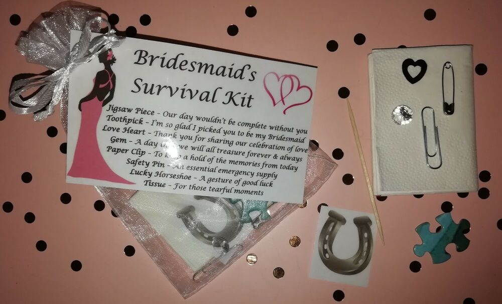 Wedding Gifts From Bridesmaids: Bridesmaid Survival Kit Thank You Keepsake Gift Wedding