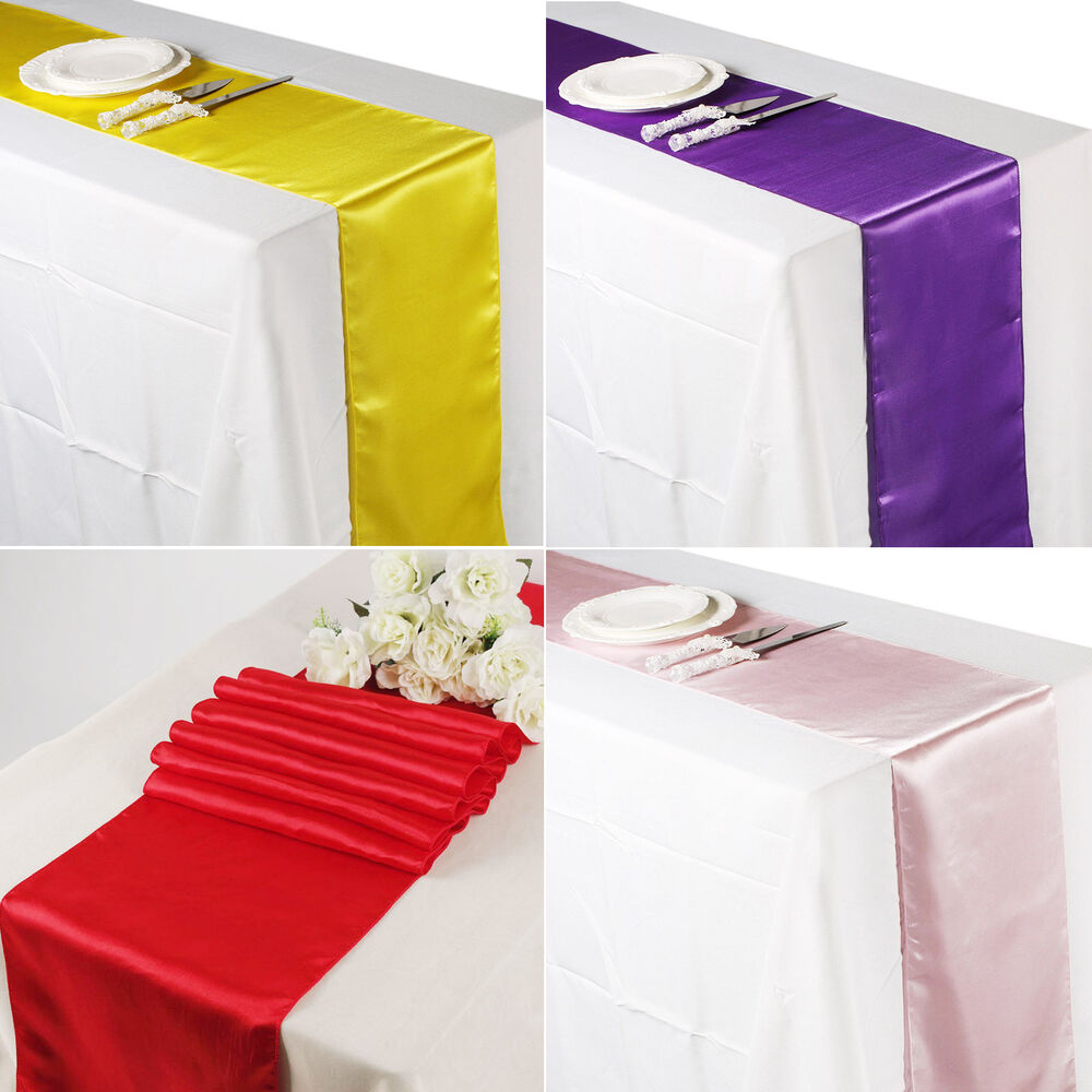 12 x 108 satin table runner chair sash wedding for 108 table runner