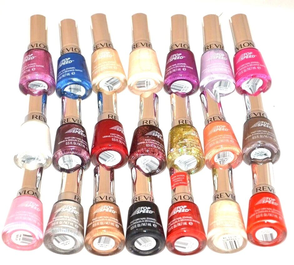 Revlon Nail Polishes: New Set Of 2 Revlon Top Speed Fast Dry Nail Polish Color 0