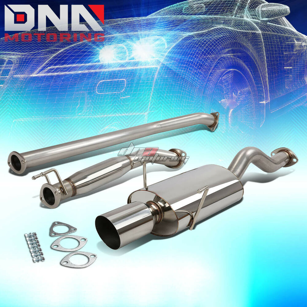 """FOR 02-06 ACURA RSX DC5 TYPE-S K20A2 4""""OVALTIP STAINLESS"""