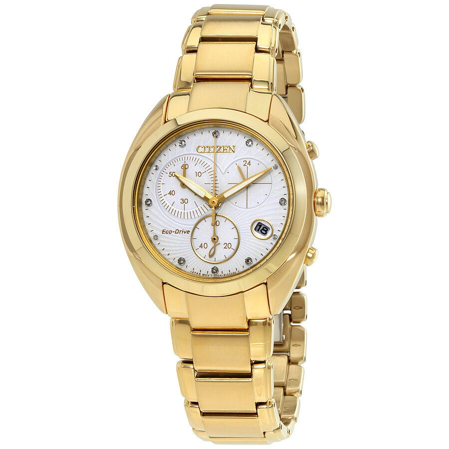 Citizen eco drive chronograph ladies watch fb1396 57a ebay for Eco drive watch