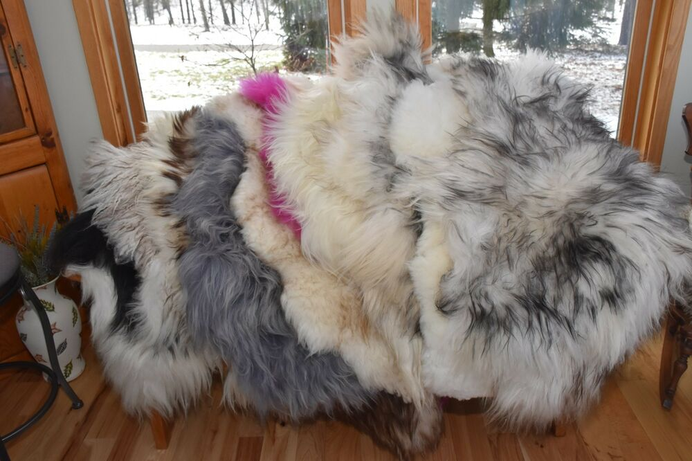 Icelandic Sheepskin Rug Bench Pad Pet Bed Couch Throw