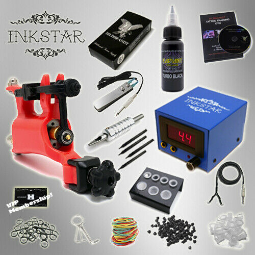 Complete tattoo kit professional inkstar 1 machine venture for Tattoo supplies ebay
