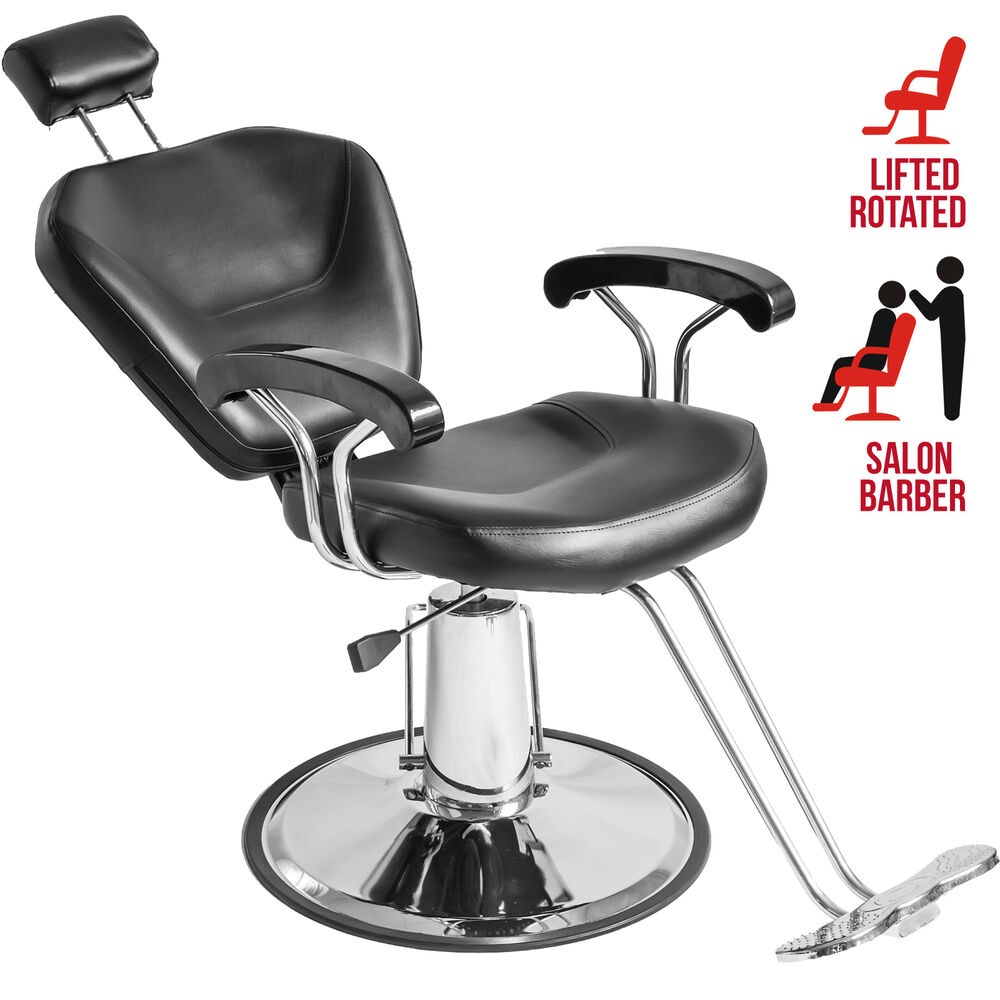 Hydraulic reclining barber chair shampoo hair styling for Hydraulic chairs beauty salon