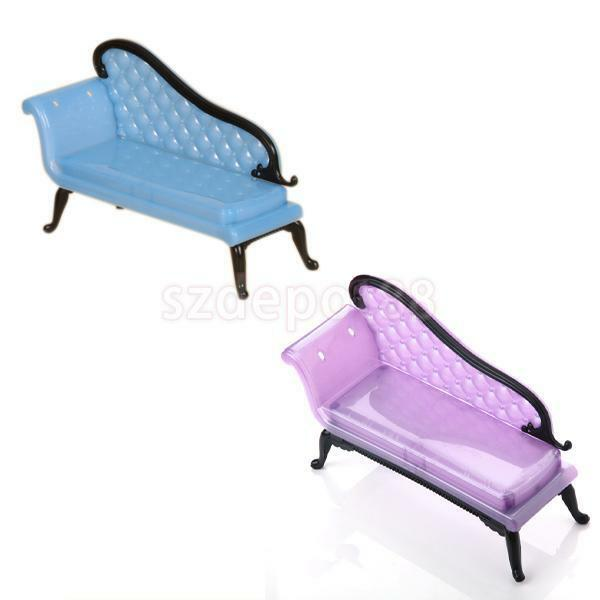 Mini dollhouse furniture chaise lounge for barbie ken doll for Baby chaise lounge