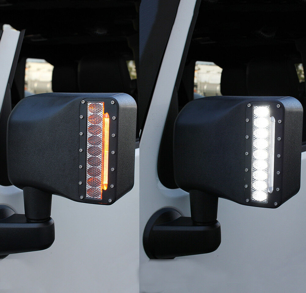 Xprite Led Side Mirror Housing W White Amp Amber Turn Signal