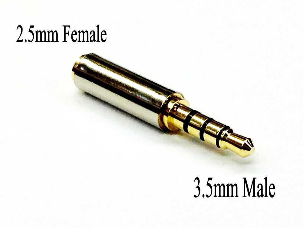 Gold Plated 3.5mm Male to 2.5mm Female Headphone Audio